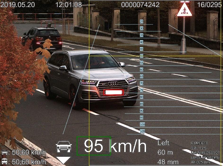 Popis: Nejvyšší překročená rychlost v roce 2019 u osobního vozidla.