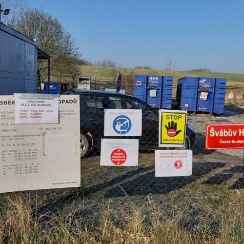 Sběrný dvůr Švábův Hrádek bude v omezeném režimu otevřen