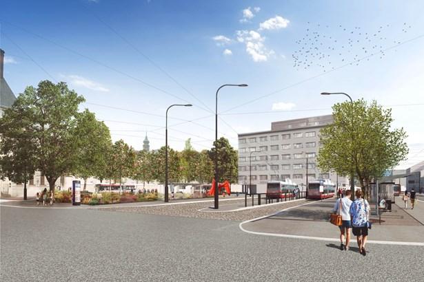 Popis: Vizualizace budoucí podoby Mendlova náměstí.