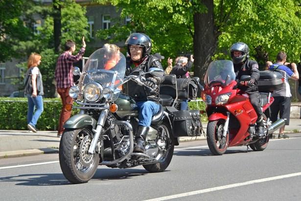 Popis: Ilustrační foto z loňské podobné motorkářské akce v Bohumíně.