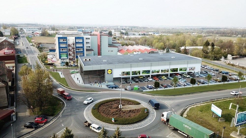 Popis: Vizualizace nové prodejny v Uhříněvsi.