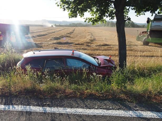 Popis: Dopravní nehoda mezi Zábřehem a Postřelmovem.