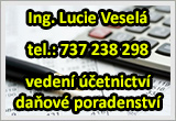 Vedení účetnictví a daňové poradenství -  Ing. Lucie Veselá
