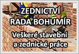 ZEDNICTVÍ RADA BOHUMÍR - Veškeré stavební a zednické práce