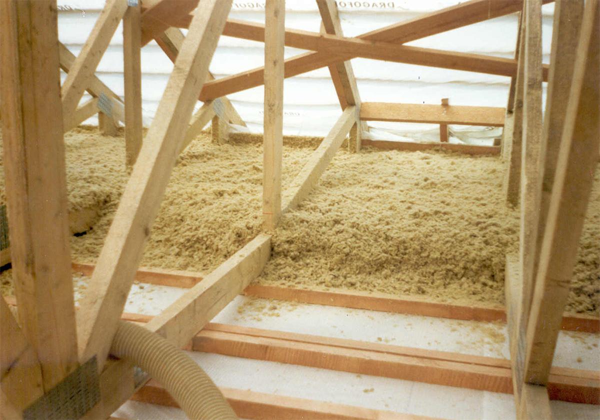 Vazníková střecha zateplená systémem MAGMARELAX.