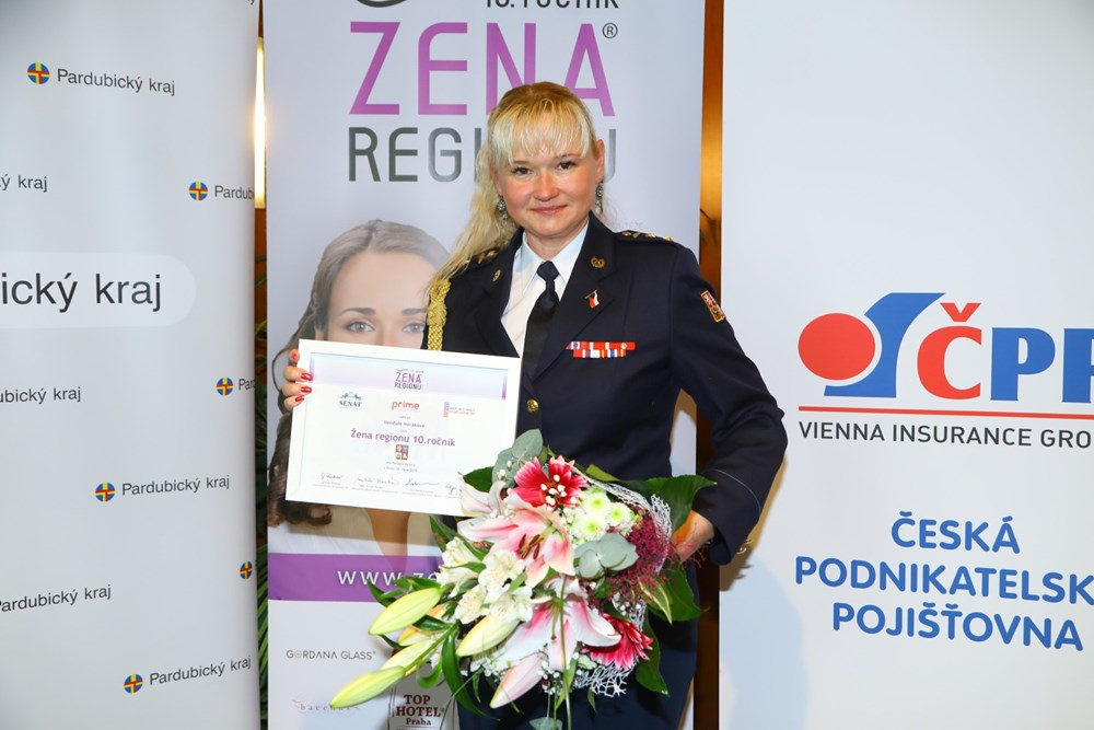 Popis: Vendula Horáková - Žena regionu se za Pardubický kraj.