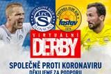 Fotbalové kluby FC FASTAV a 1.FC Slovácko podpoří virtuálním derby nemocnice ve Zlíně a Uherském Hradišti